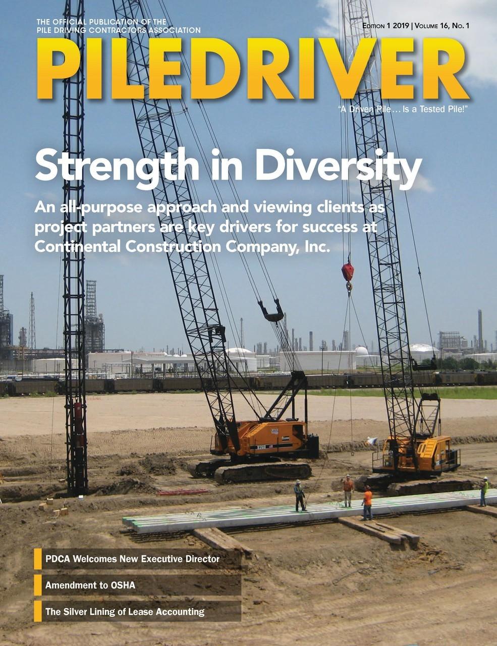 PileDriver Magazine | Pile Driving Contractors Association